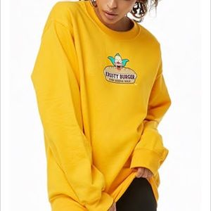 Yellow Krusty The Clown Sweatshirt